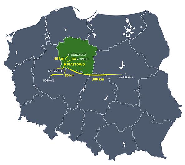 mapa piastowo